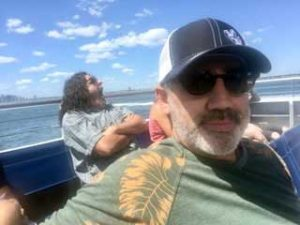 Todd on Boat